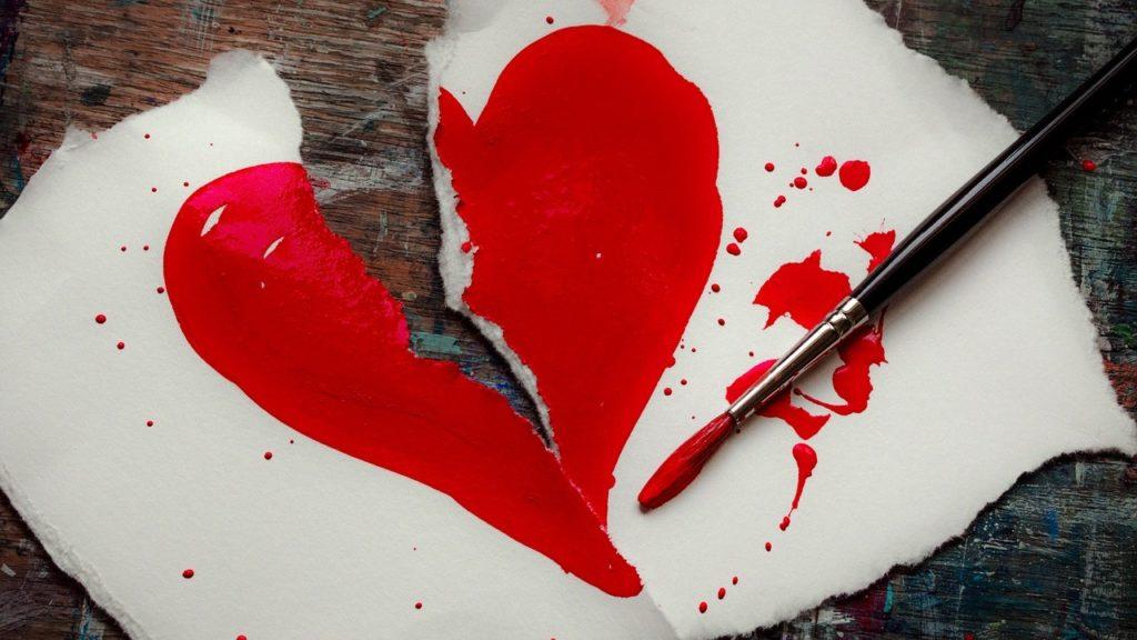 painted broken heart